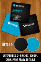 Free PSD: Mini Business Cards by thearslan