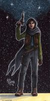 Jyn Erso ( Jedha ) by Phraggle