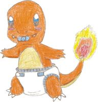 Request 9: Baby Charmander by knails87