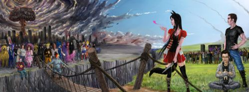 Commission: The bridge beetween two worlds by Theocrata