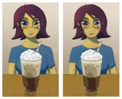 Barriss Iced Coffee by RaikohIllust