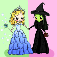 Glinda and Elphie by Meowkin
