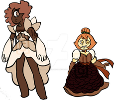 Flat Sale: Desert Rose and Topaz (OPEN) by undercoverghost