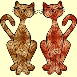 paisley kitties by KRSdeviations
