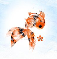 Curious Calico Fishy by rockgem