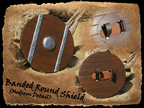 Banded Round Shield MD by BanesArmory