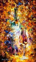 Wine For Emotions by Leonid Afremov by Leonidafremov