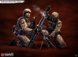 Mortar Infantry Team by DNA-1