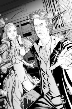 Inktober 16: The Doctor and Jenny by JOSERODRIGUEZMOTA