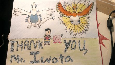 Satoru Iwata Tribute Art Pokemon EarthBound Kirby by kirbysuperstar97