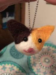 Needle Felted Cat  by Jengogirl