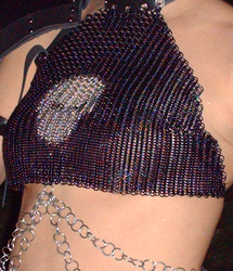 Chainmail Halter with Skull by TheBrassApple