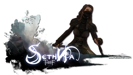 Guild Wars 2 Signature - Seth Na by nuexxchen