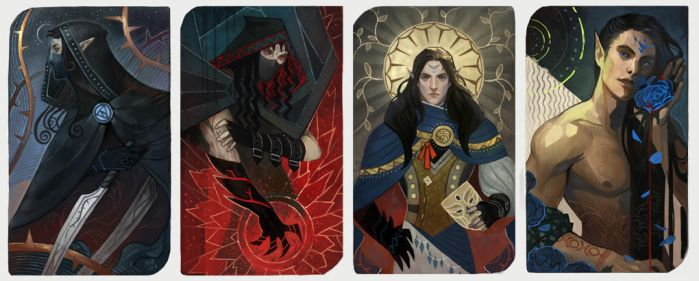 Blue Rose (4 cards) by madnessdemon