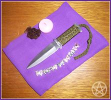 My first athame by LuzbelDestello