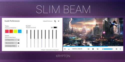 VLC - Slim Beam - White Skin by KryptonSyt