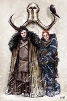 Jon Snow and Ygritte by JamesBousema