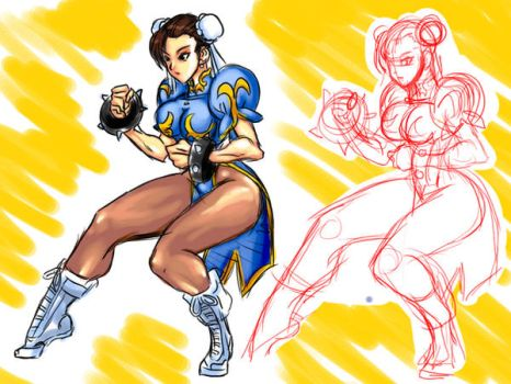 DA vs  my art of chun li by Shayeragal