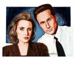 Scully and Molder by Profesor-Dathu