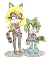 Raccoon and Ringtail by Crystal2Cat