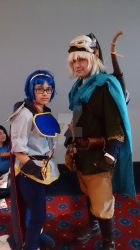Hero Link and Prince Marth by skyresschan