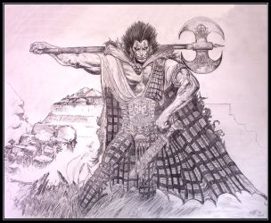 Slaine the Celtic Warrior by mnwlf6666