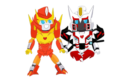 Rodimus x Drift by TheVisoredMelon