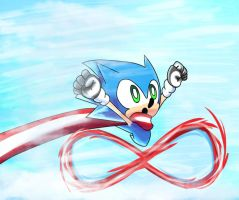 Believe It Or Not. Sonic Is Running On Air. by JamoART
