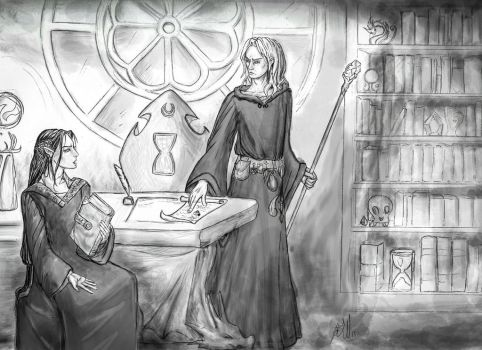 Mage and apprentice // Fanfic Devotion  by ElenaZambelli