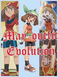 May outfit evolution by Rayraygirl1