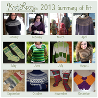 My 2013 knitting cavalcade by KnitLizzy