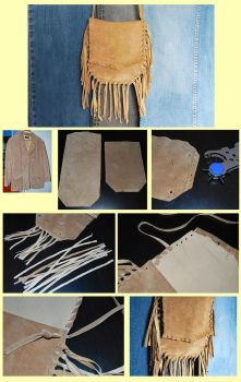 Suede Fringe Bag DIY by Madizzo