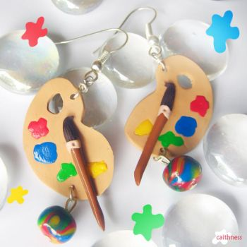 Colorful Palettes Earrings by caithness-shop