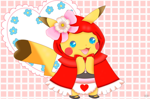 Pika Little Red Riding Hood by jirachicute28