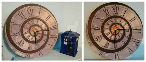 Doctor Who Themed Wall Clock by Dave2399
