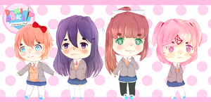 Doki Doki literature club by Ela-Pyon