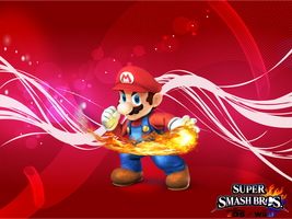 SSB4 Mario Wallpaper by Galaxy-Afro