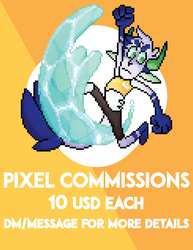 PIXEL COMMISSIONS     CLOSED  by King-Blu