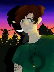 Dipper Pines - Bill Cipher by Im-a-knife