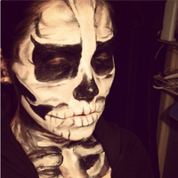Skeleton Face Paint2 by stinafacexd