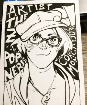 ACEO -- Self Portrait by The-Z