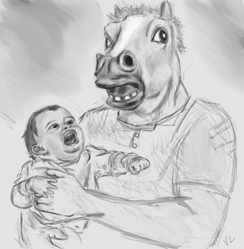 Child in Loving Fathers Embrace by VeritasLibero
