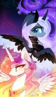Encarnation of light and darkness by MagnaLuna