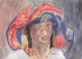 African woman w scarf by mdiana