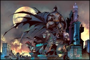 Batman and Darkness by puzzlepalette