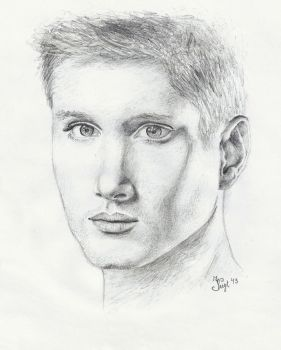 Young Jensen Ackles by Irizzz-loves-drawing
