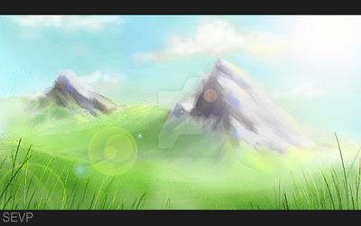 Mountains - speed paint by Clearleaf-Forest