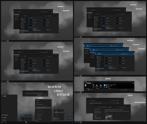 Maxtri Dark Blue Theme Win10 April 1803 Update1 by Cleodesktop