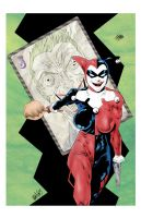 HARLEY QUINN W/ MR. J CARD by drawhard
