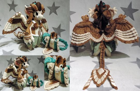 [PLUSH/BAGBEAN] Ayla (Archaeopteryx) by ShiroTheWhiteWolf